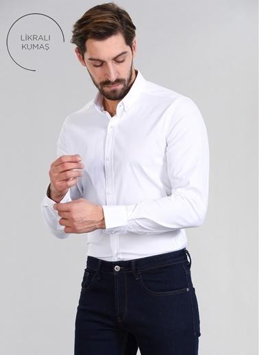 People By Fabrika Erkek Gömlek Beyaz